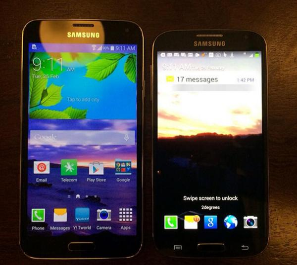 Samsung Galaxy S5 and S4